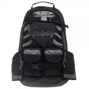 Batman with Logo Black Tactical  Backpack - NEW! FREE SHIPPING!