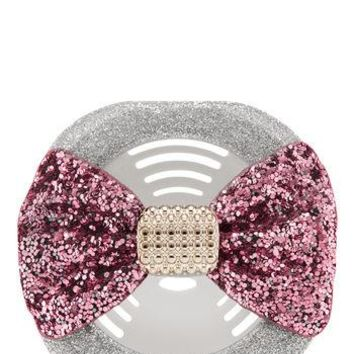 Bath Body Works Scentportable Holder GLITTERY PINK BOW Vent Clip