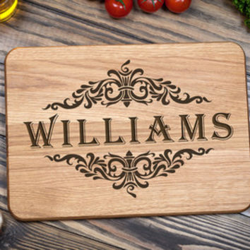 Cutting Board, Personalized Cutting Board, Wedding Gift, Engagement Gift, Anniversary Gift, Kitchen Decor