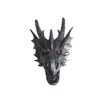 The Drogon | Large Dragon Head | Faux Taxidermy | Antique Silver Resin