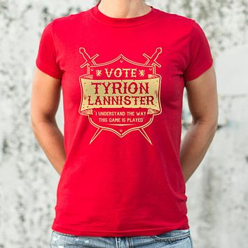 Ladies Vote Tyrion Lannister T-Shirt
