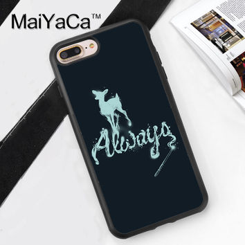 Always Deer Harry Potter Printed Soft TPU Skin Mobile Phone Cases OEM For iPhone 6 6S Plus 7 7 Plus 5 5S 5C SE 4 4S Cover Shell