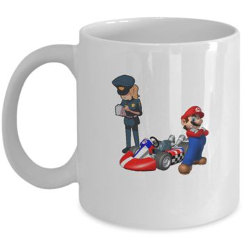 Cool Awesome Video Game Car Racing Coffee Mario Mug