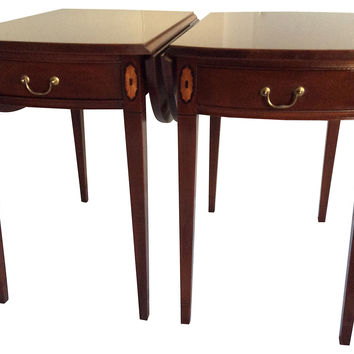 Hickory Chair  Pembroke Tables, Pair