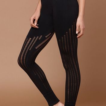 Ivy Park Seamless Ribbed Leggings at PacSun.com - black | PacSun