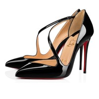 Christian Louboutin Cl Jumping Black Patent Leather 18s Pumps 1180825bk01