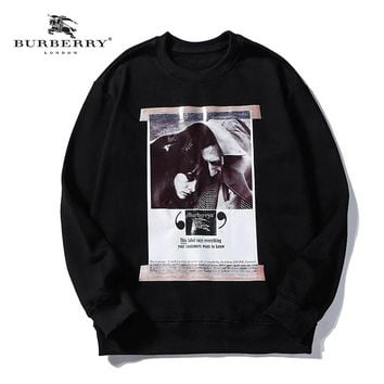 Burberry Fall Winter New Co-branded Poster Oil Painting Print Hoodie Black