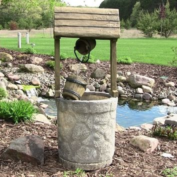 Sunnydaze Decor Outdoor Wishing Well Water Fountain