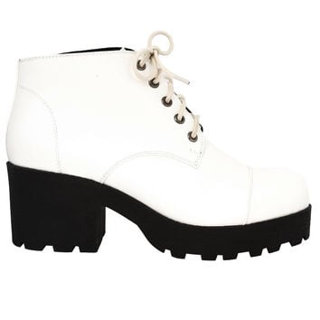Contrast Bottom Platform Boot by Chelsea Crew