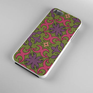 DS296-iPhone Case - Iphone 5 case-Iphone 5s case - Iphone 4 case - Iphone 4s case - Iphone Cover -Flowers Pink Bohemian iPhone Case