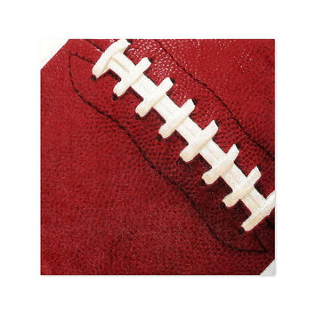 End Zone - Football - Birthday Party Beverage Napkins - 16 ct