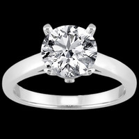 3 ct. Round diamond solitaire engagement ring gold