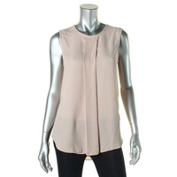 Vince Camuto Womens Sleeveless Pleated Blouse
