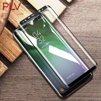 PLV 3D Curved Tempered Glass For Samsung Galaxy Note 8 S8 Plus Screen Protector Film Cover Explosion-proof For Samsung S8 Glass