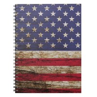 American United States Rustic Flag Notebook