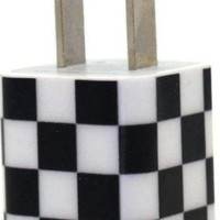 Black Checkered Phone Charger