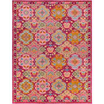 Surya Anika Rug | Bright Pink+Red