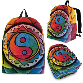Rainbow Lotus Mandala Backpack