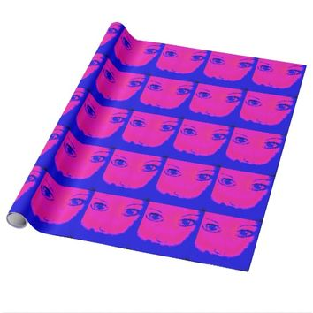 Neon Eyes Wrapping Paper