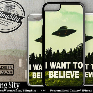 iPhone 6 Case I want To Believe UFO Aliens iPhone 5C Case Iphone 6 Plus Cover Iphone 5s Case 4 Ipod 4, Ipod 5, Ipod 6