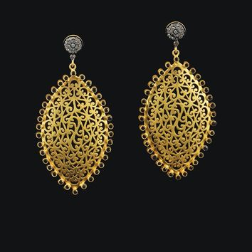 Marrakesh Antique Cut Diamond Earrings