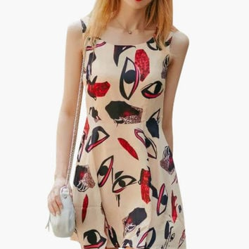 Picasso Style Skater Dress