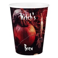 Rustic Halloween Pumpkin and Candles Paper Cup