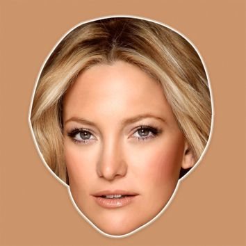 Sexy Kate Hudson Mask - Perfect for Halloween, Costume Party Mask, Masquerades, Parties, Festivals, Concerts - Jumbo Size Waterproof Laminated Mask