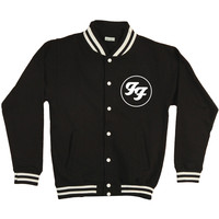 Foo Fighters Men's  Initials Varsity Jacket Black Rockabilia