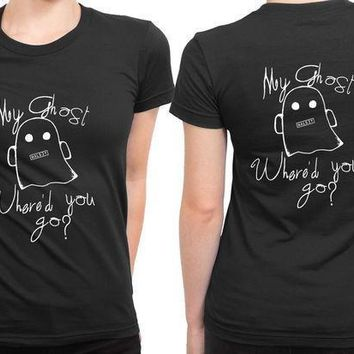 Halsey Ghost Illustrations Where You Go 2 Sided Womens T Shirt