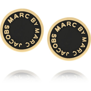 Marc by Marc Jacobs - Enameled gold-tone earrings
