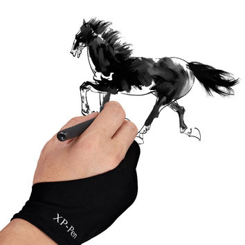 XP-Pen Artist Anti-fouling Lycra Glove for Drawing Tablet/Display Copy board/led light box/Tracing Light Pad
