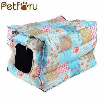 Petforu Cat Hanging Warm House Cotton cat Hammock Small Animals Nest cat Bed House Cage