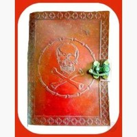 Skull & Bones Latched Leather Journal