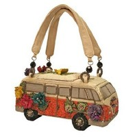 Mary Frances Get On The Bus Novelty Beaded Jeweled Crystal Handbag Purse