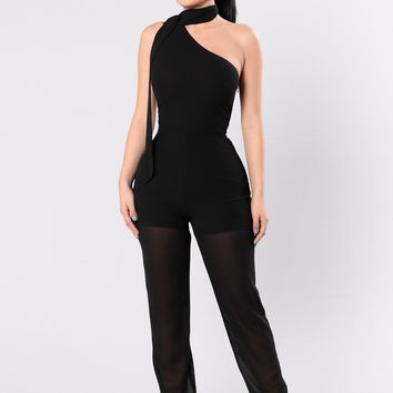 Just Can't Get Enough Jumpsuit - Black