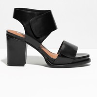 & Other Stories | Block Heel Sandals | Black