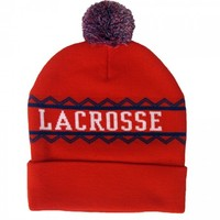 Red Lacrosse Knit Hat | Lacrosse Unlimited