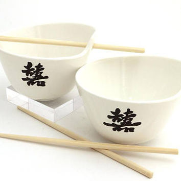 OOPS- Annual clearance of discontinued or slightly flawed items - noodle bowl and chopsicks