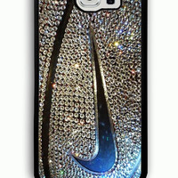 Samsung Galaxy S6 Case - Rubber (TPU) Cover with nike glitter gold basketball Rubber case Design