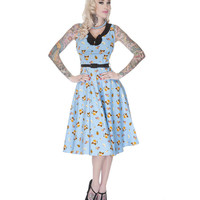 Voodoo Vixen Chinese Love Kitten Flare Dress - Last One - Small