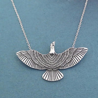 Eagle, Silver, Necklace, Beautiful, Modern, Animal, Necklace, Birthday, Best friends, Sister, Gift, Jewelry