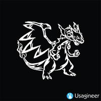 POKEMON MEGA CHARIZARD X GAME DECAL STICKER