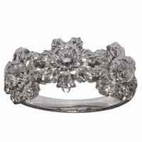 Buccellati Diamond Gold Floral Motif Ring