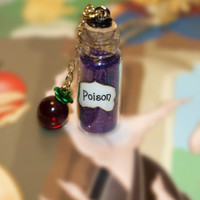 Poison and Apple Wicked Queen Vial and Charm by LifeistheBubbles