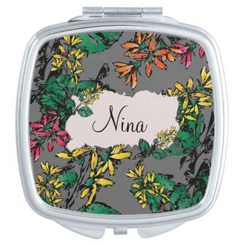 Wildflowers Pattern Vanity Mirror