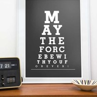 Star Wars Poster - May The Force Be.. on Luulla