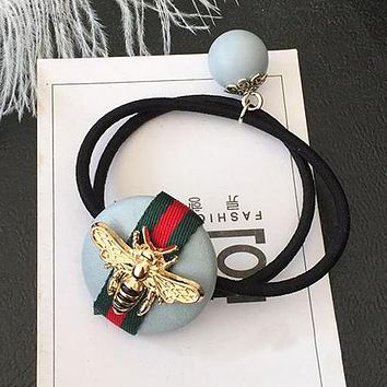 GUCCI Bee Women Fashion Hairbands Hair Scrunchy Hairtie Elastic Ponytail Headwear Accessories