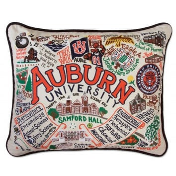 Auburn University Embroidered Pillow