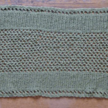 Table Runner/Doily/Table/Topper- Crochet Olive Green